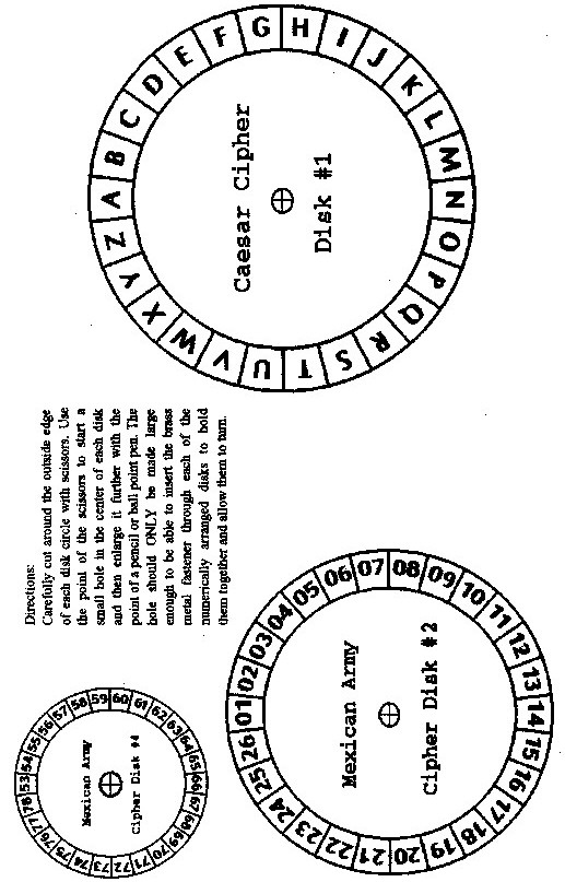 Cipher Disk Templates