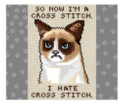 grumpy cat cross stitch