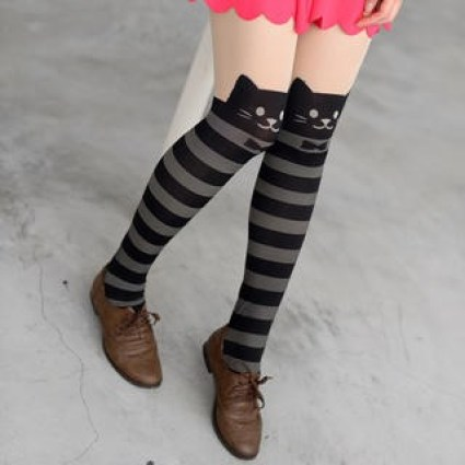 stripy cat tights