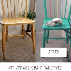 Diy Painted Windsor Chairs Accent With Ottomans Vintage Chair Makeover Rust Oleum Chalky Finish Paint