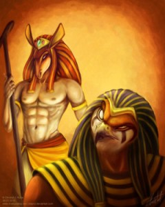 Schemers__Set_and_Horus_by_blayrd