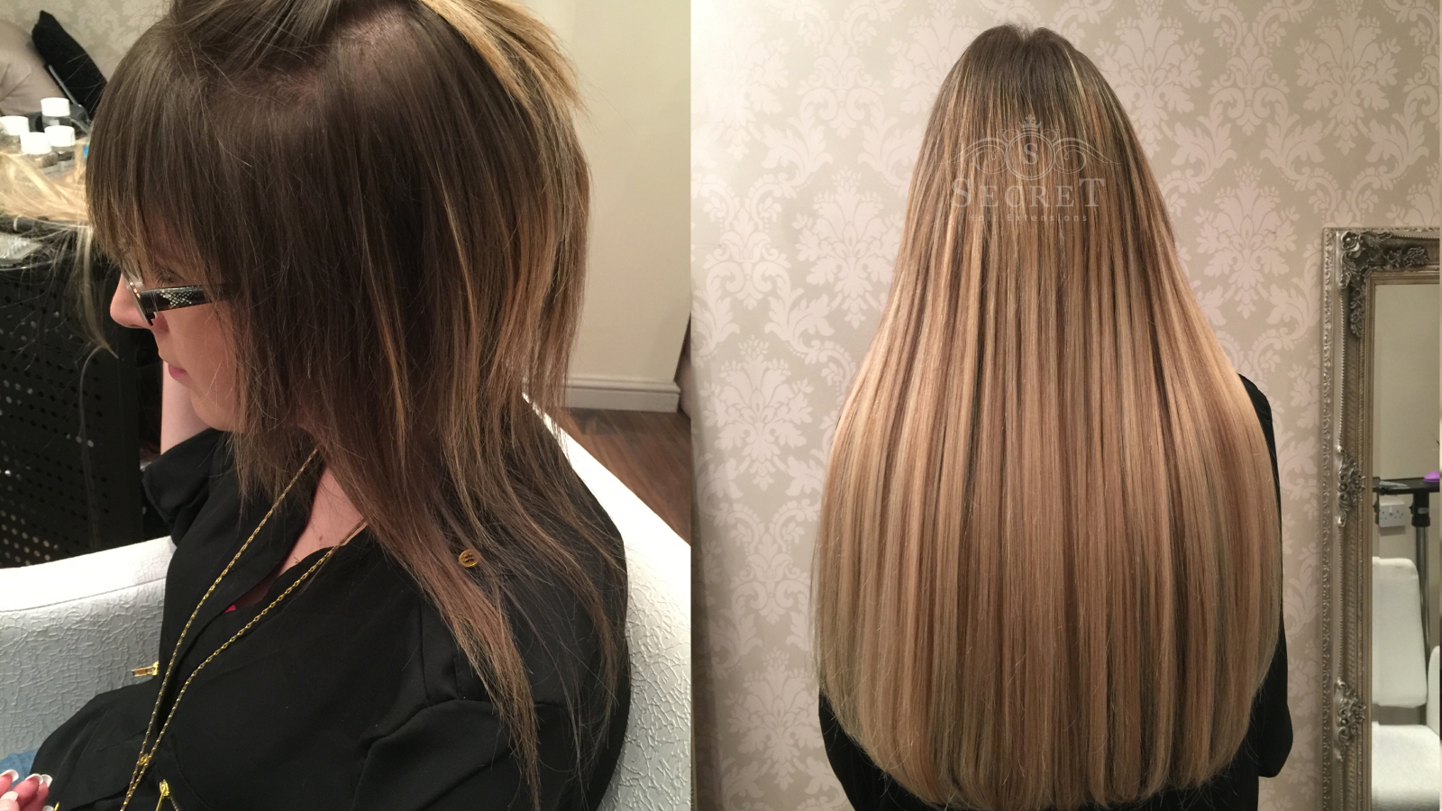 Hair Extensions Before And After 02 Secret Hair Extensions