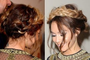 Vanessa Hudgens Halo Hair Braid Ombre Hair Extensions