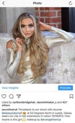 hair extensions instagram