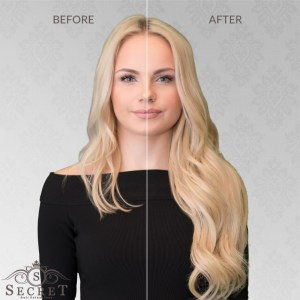 flip in hair extensions before and after