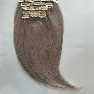 clip in hair extensions grey