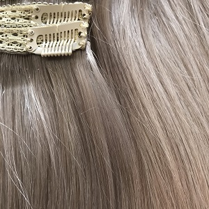 clip in remy hair extensions grey