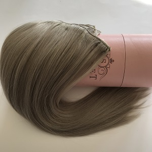 clip ins hair extensions grey