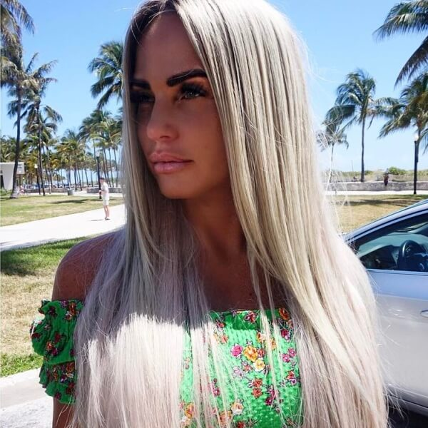 Katie Price Celebrity Wearing Secret Hair Extensions