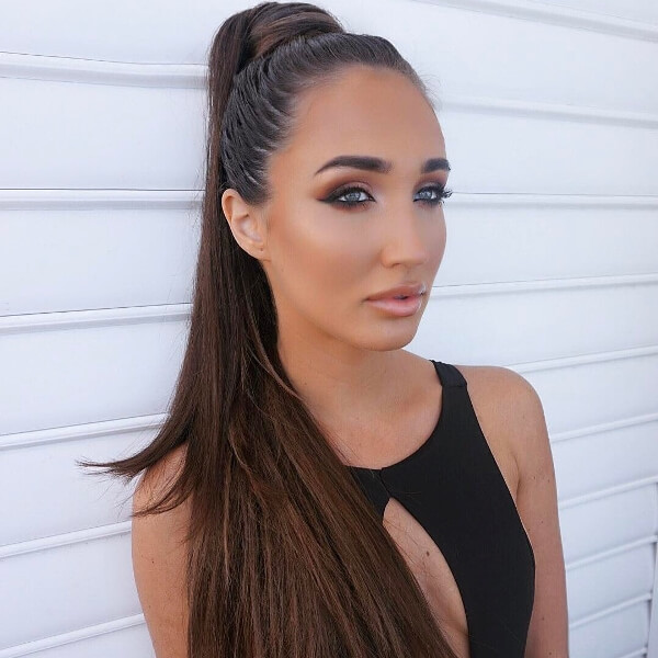 Megan McKenna Celebrity Wearing Secret Hair Extensions