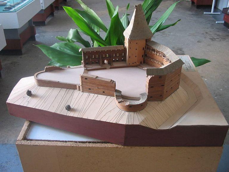 Макет замка в Бучаче