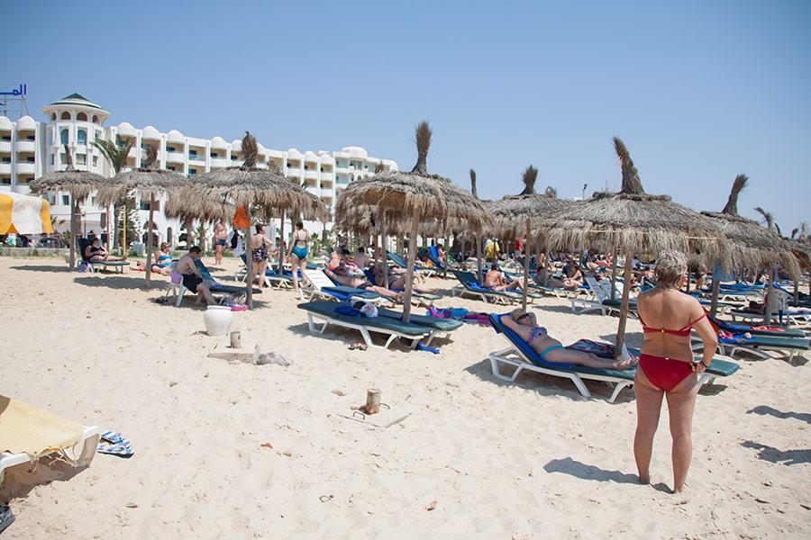 Пляж отеля El Mourandi El Menzah