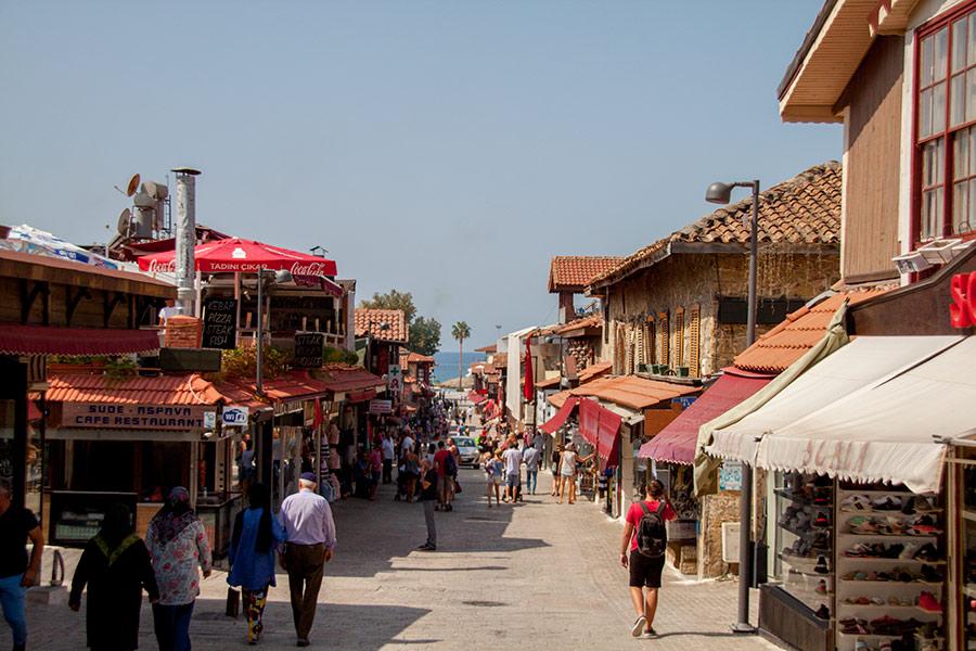 Прибрежный квартал в Сиде