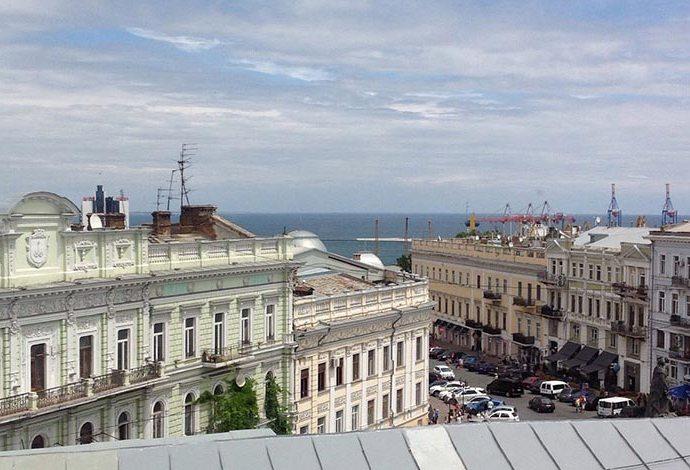 Вид из отеля Екатерина II В Одессе