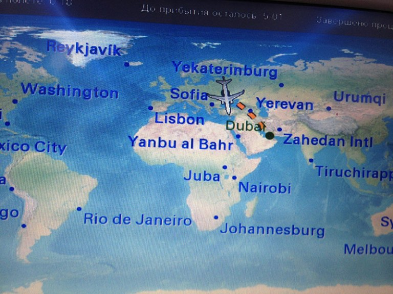 Монитор в самолете