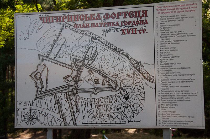 Чигиринская крепость план