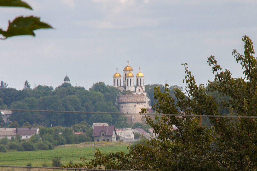 Вид на острожский замок