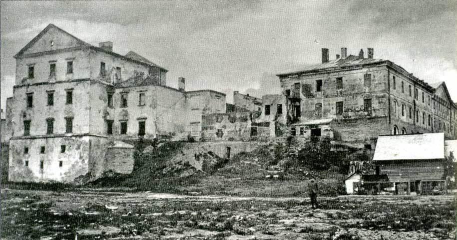 Развалины замка в Тернополе
