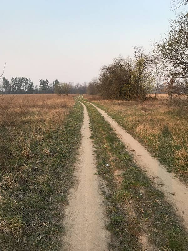 Дорога от кладбища