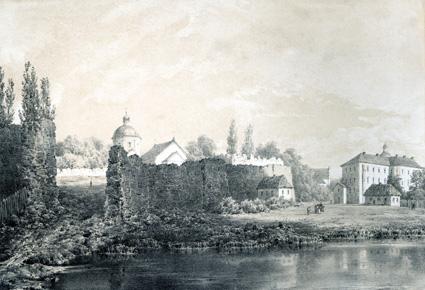 Замок Бар, рисунок Наполеона Орды