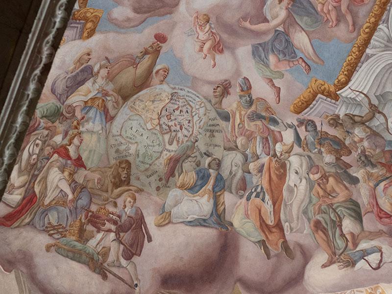 Костел иезуитов во Львове фреска