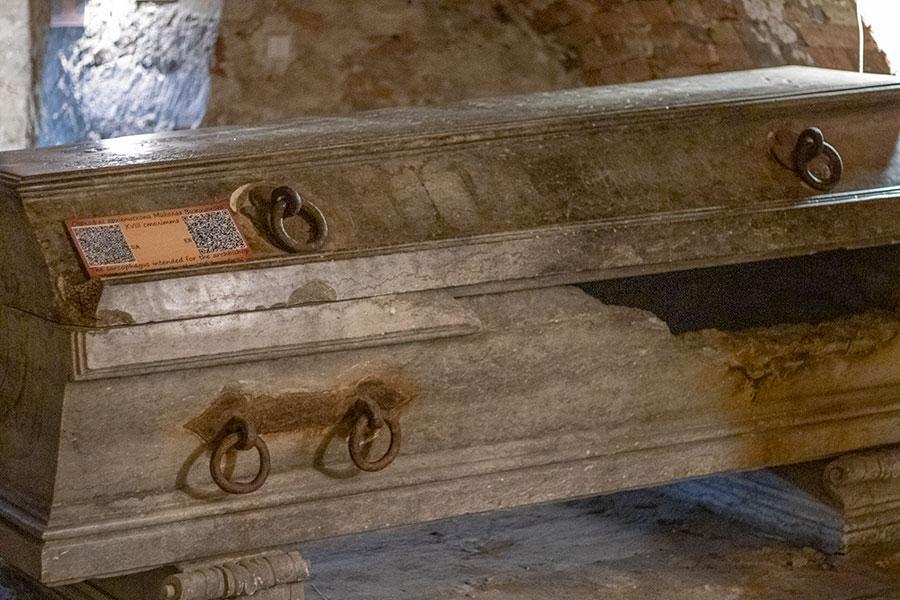 Саркофаг принадлежал архиепископу львовскому Николаю Игнатию Вижицкому.