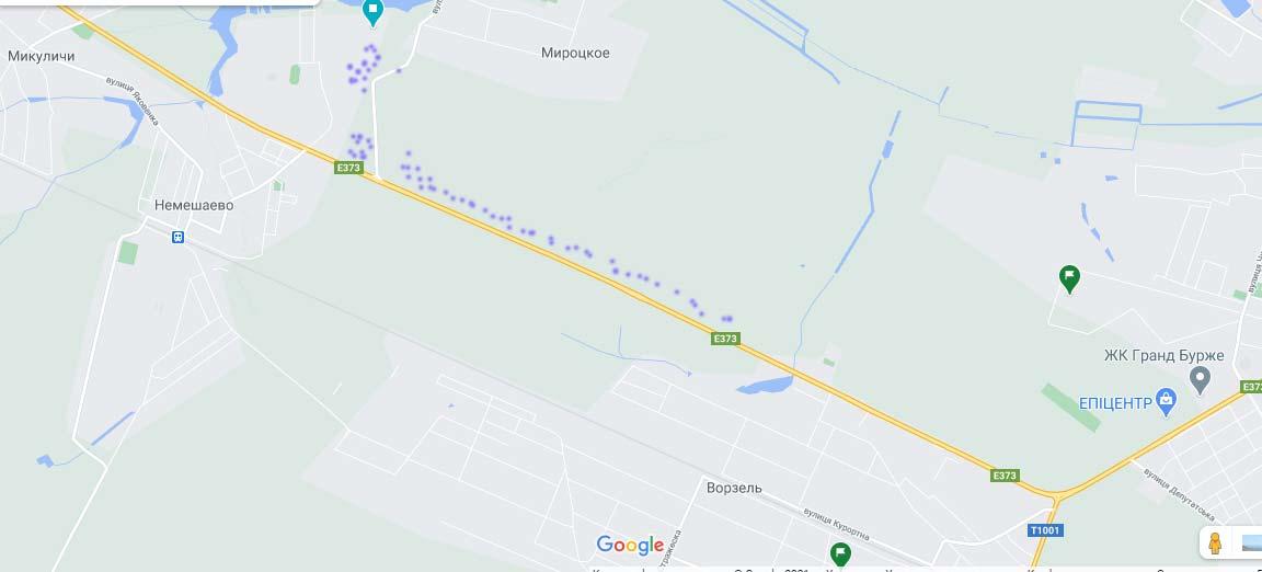 Карта люпин в Ворзеле