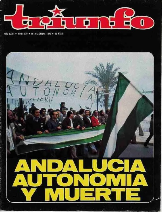Revista Triunfo Andalucía, Autonomía y muerte (4D1977)