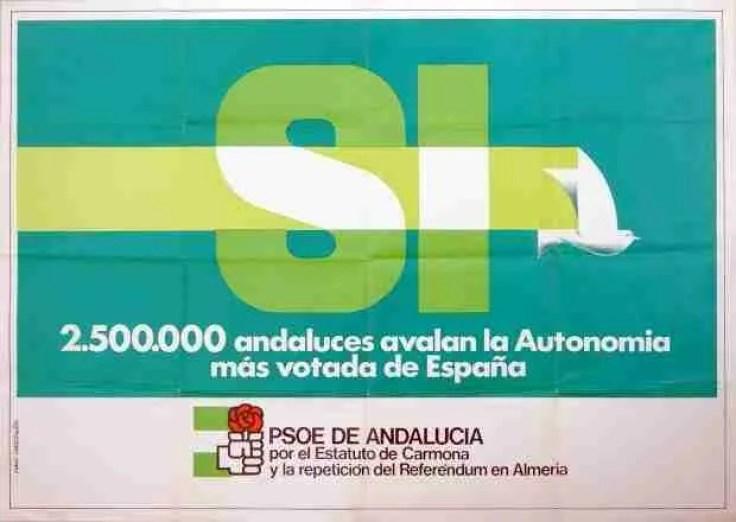 cartel autonomía andaluza psoe