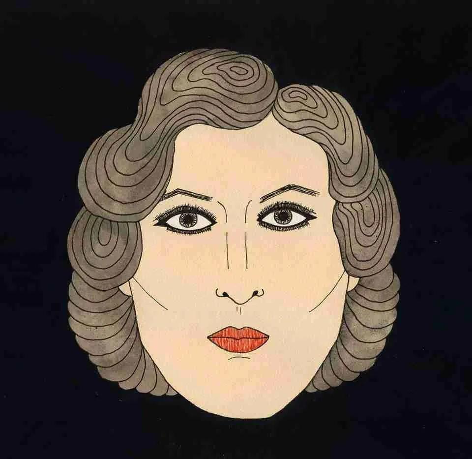 Retrato flamenco de Estrella Morente, por Nuria Rubio