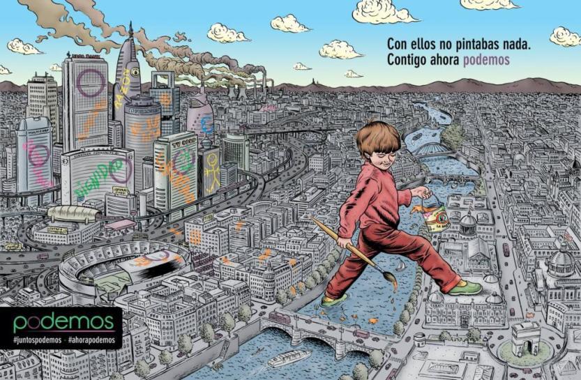 Ilustración para PODEMOS de Miguel Brieva