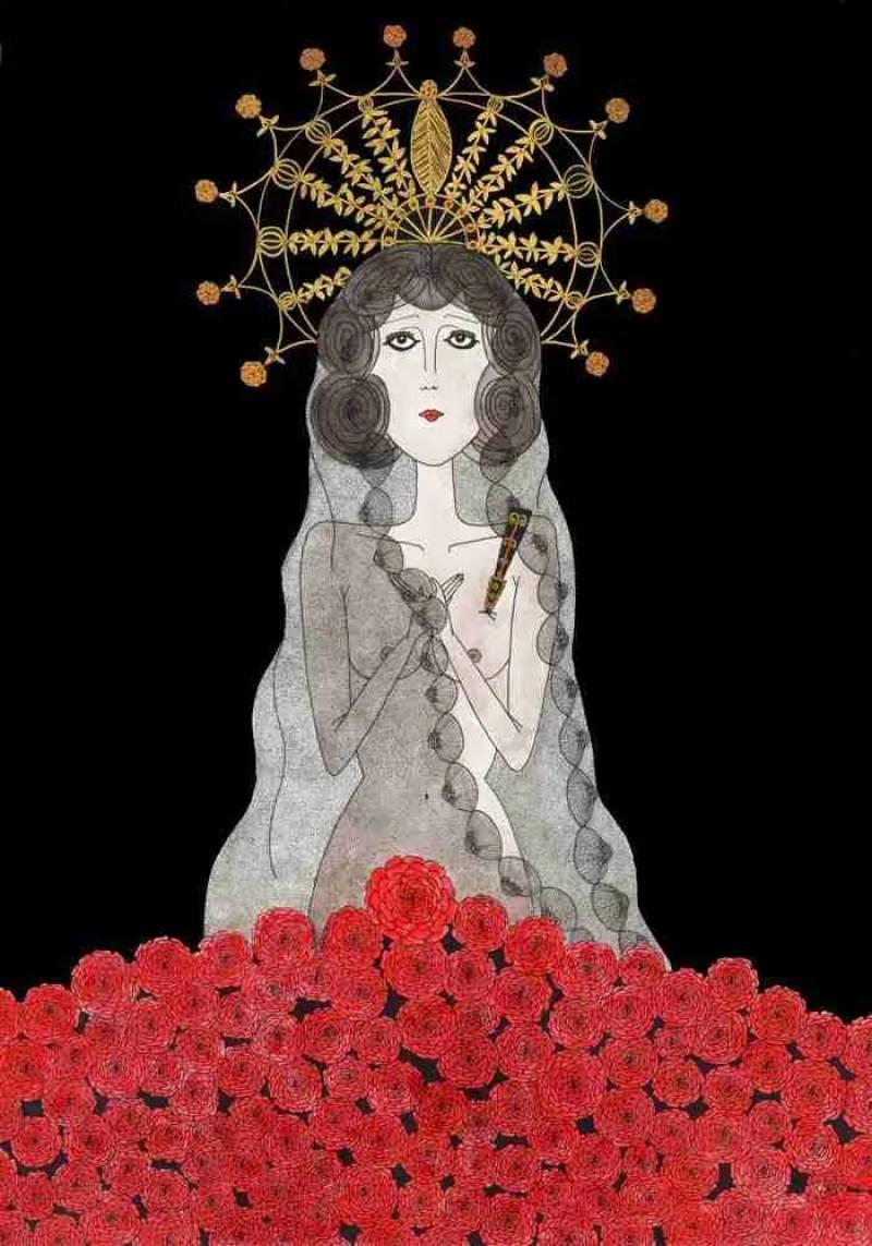 María de la O, copla ilustrada por Nuria Rubio