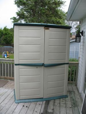 Rubbermaid Vertical Storage Shed 3746ATOLVSS