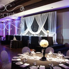 Large Banquet Chair Covers How To Make Easy For Wedding Amy And Imraz's -- A Black, White, Bling | Toronto Decor Secrets ...