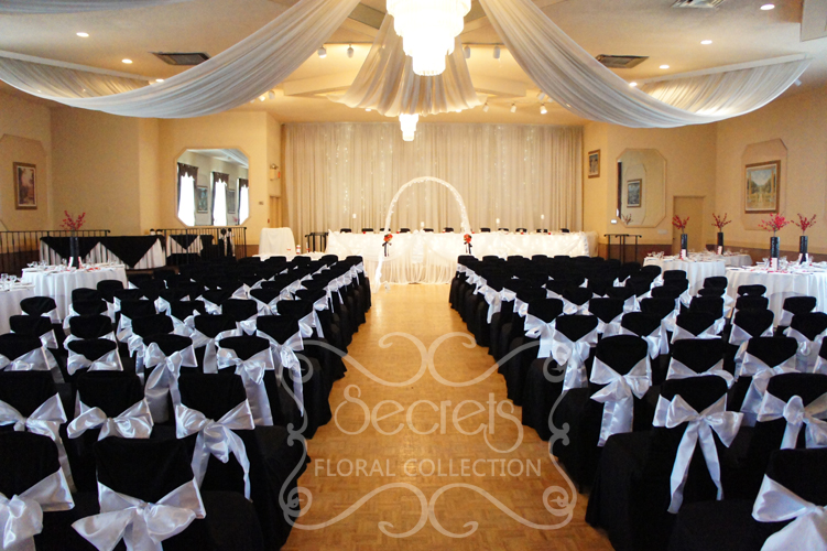 white chair sashes bar chairs swivel voile archives | secrets floral collection