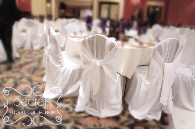 cream chair covers for weddings plastic with wooden legs guest tables white crushed taffeta secrets