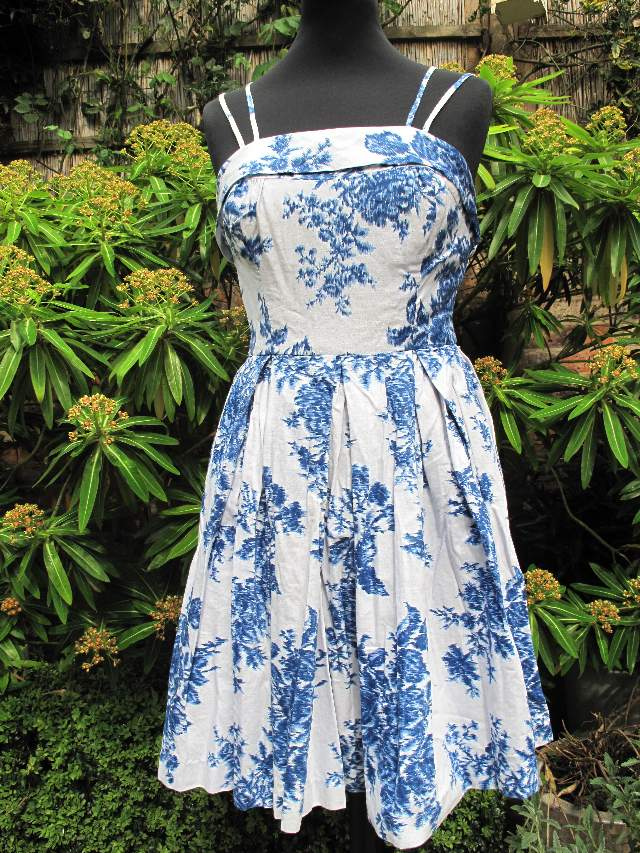 1950 s Willow pattern print vintage cotton sundress SOLD