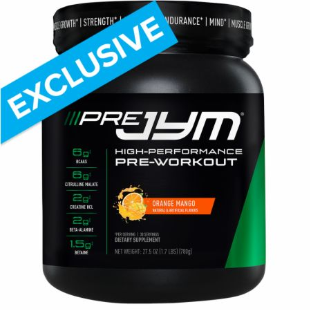 Go Heavier with Pre JYM Pre-Workout