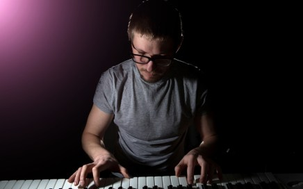 songwriter improvising melodies and chords