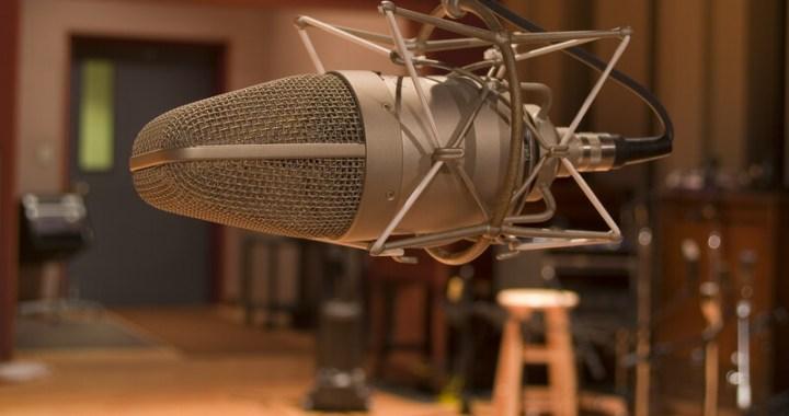 Mic in a sound studio