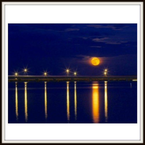 Supermoon Over the Choptank Photo Product
