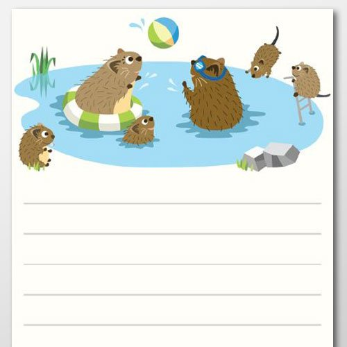 Summer Muskrats Notepad