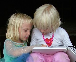 young girls read