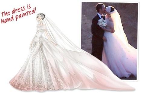 Anne Hathaway's Valentino wedding gown in November 2012