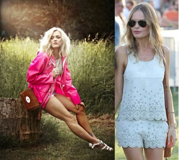 Fearne Cotton and Kate Bosworth showing their best festival style (Images:Very.co.uk and Vogue)