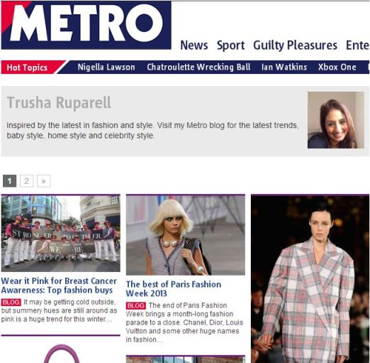 Metro Blog - Secret Style File