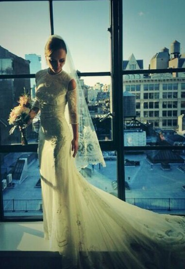 Christina Ricci in her Givenchy Wedding gown