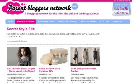 Netmums Bloggers - Secret Style File