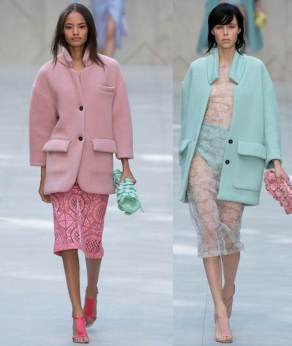 Burberry Pastel Coats for SS14