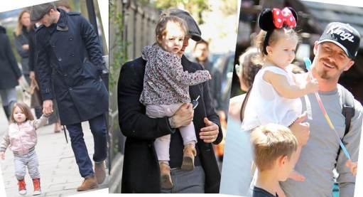 Daddy's girl, Harper Beckham